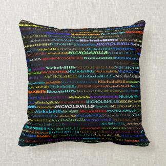 Nichols Hills Text Design I Throw Pillow