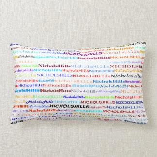 Nichols Hills Text Design II Lumbar Pillow