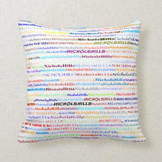 Nichols Hills Text Design II Throw Pillow