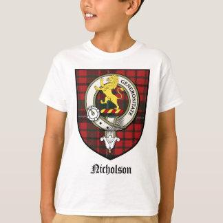 Nicholson Clan Crest Badge Tartan T-Shirt