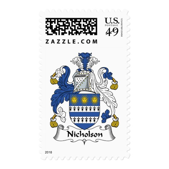 Nicholson Family Crest Postage