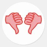 nicht not OK Daumen runter thumbs down Aufkleber