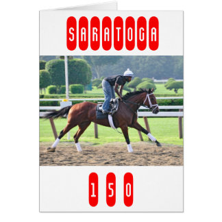 Nick Bush and Todd Pletcher Workouts Greeting Card