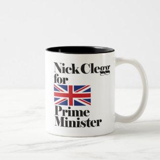Nick Clegg para el ministro de Primie Taza