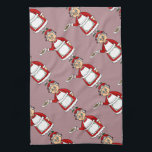 """NiCK DAViD - Mrs. Claus Kitchen Towel<br><div class=""""desc"""">During the Christmas holiday time,  Santa seems to all the glory while Mrs Claus cooks away unseen,  in the North Pole kitchen. As such,  NiCK DAViD has designed a delightful kitchen towel recognizing ALL the women who are cooking the most wonderful fanciful holiday meals this season!</div>"""