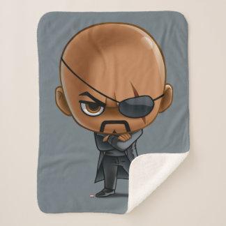 Nick Fury Stylized Art 2 Sherpa Blanket