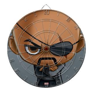 Nick Fury Stylized Art Dartboard With Darts