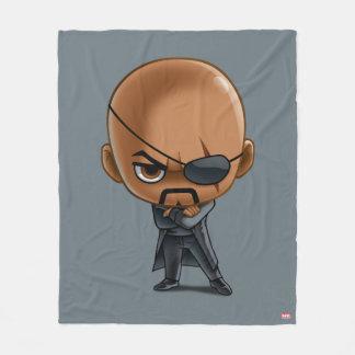 Nick Fury Stylized Art Fleece Blanket