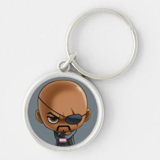 Nick Fury Stylized Art Keychain