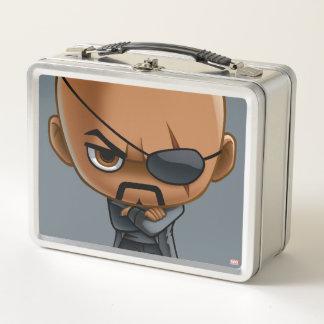 Nick Fury Stylized Art Metal Lunch Box