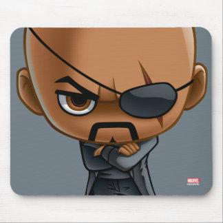 Nick Fury Stylized Art Mouse Pad
