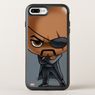 Nick Fury Stylized Art OtterBox Symmetry iPhone 8 Plus/7 Plus Case