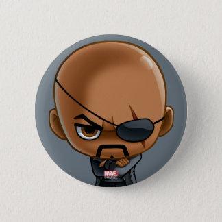 Nick Fury Stylized Art Pinback Button