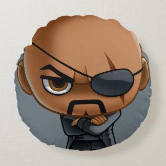 Nick Fury Stylized Art Round Pillow