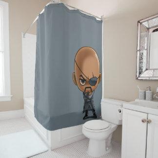 Nick Fury Stylized Art Shower Curtain