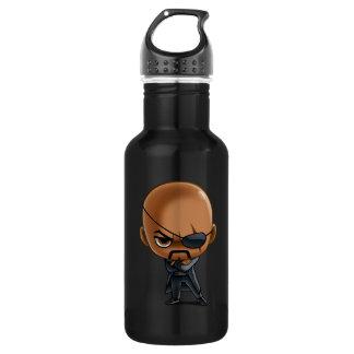 Nick Fury Stylized Art Stainless Steel Water Bottle