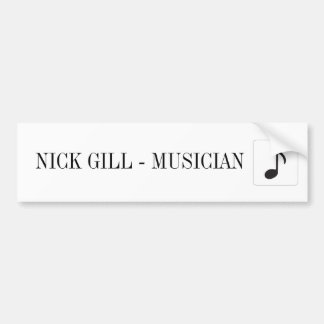 NICK GILL STICKER CAR BUMPER STICKER