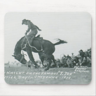 Nick Knight riding T. Joe at Cheyenne Frotier Days Mouse Pad