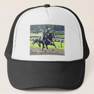 Nick Petro on a Kathy Ritvo Trainee Trucker Hat