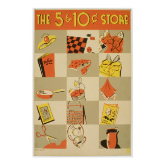 Nickel and Dime Store Print