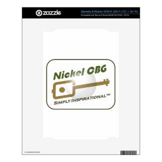 Nickel CBG Bubble Design Decals For NOOK