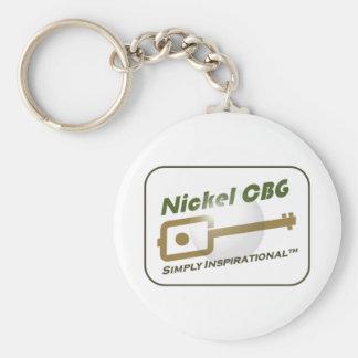 Nickel CBG Bubble Design Key Chain