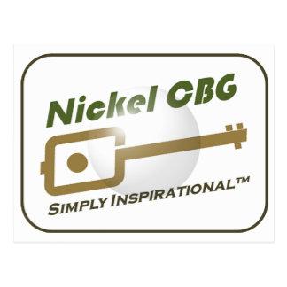 Nickel CBG Bubble Design Post Cards