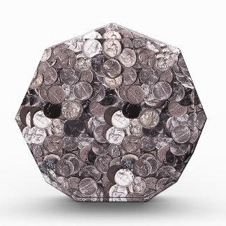 Nickel Coins Graphic Acrylic Award