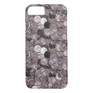 Nickel Coins Graphic iPhone 7 Case