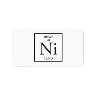 Nickel Address Label