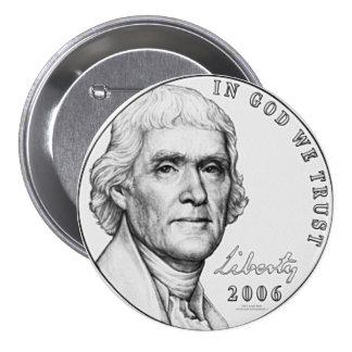 Nickel Pinback Button
