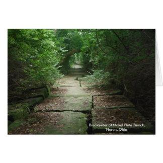 Nickel Plate Beach path, Huron, Ohio, notecards Card