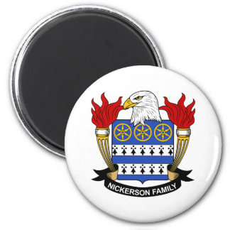 Nickerson Family Crest 2 Inch Round Magnet