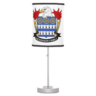 Nickerson Family Crest Desk Lamps