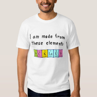 Nicklaus periodic table name shirt