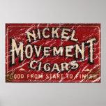 Nickle Movement Cigar 1900 - distressed Print