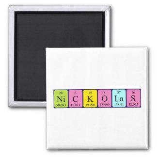 Nickolas periodic table name magnet