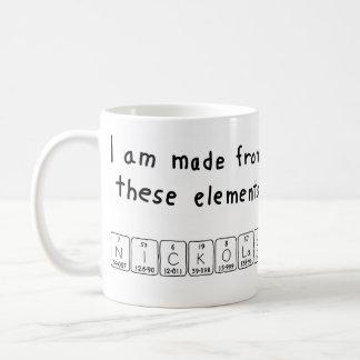 Nickolas periodic table name mug