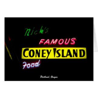 Nick's Famous Coney Island - Portland, Oregon Card