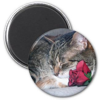 Nicky & A Rose Magnet