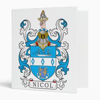 Nicol Family Crest 3 Ring Binders