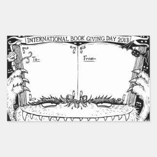 Nicola L. Robinson - Book Giving Day bookplate Rectangular Sticker
