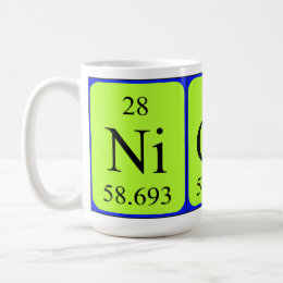 The name nicola coffee travel mugs zazzle nicola periodic table name mug urtaz Image collections