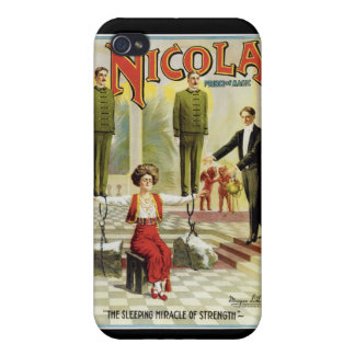 Nicola Prince of Magic ~ Vintage Magician Act iPhone 4 Covers