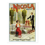 Nicola Prince of Magic ~ Vintage Magician Act Post Cards