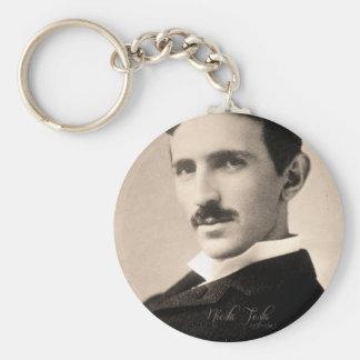 Nicola Tesla Photo Keychain