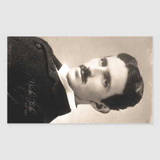 Nicola Tesla Photo Rectangular Sticker
