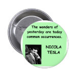 Nicola Tesla Pin Redondo 5 Cm
