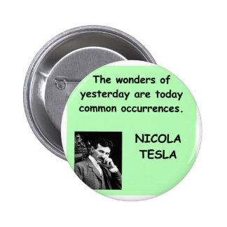 Nicola Tesla Pin Redondo De 2 Pulgadas