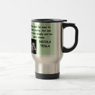 Nicola Tesla Taza De Viaje De Acero Inoxidable
